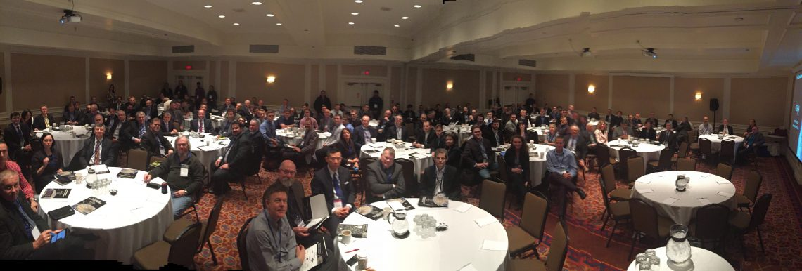 The view from the podium as introduce the 2016 Canadian SmallSat Symposium which I organized